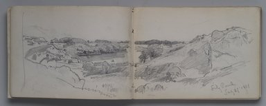 William Trost Richards (American, 1833-1905). Sketchbook: Newport and Conanicut, 1881. Graphite on paper, 5 x 7 in. (67 pages). Brooklyn Museum, Gift of Edith Ballinger Price, 1993.225.9