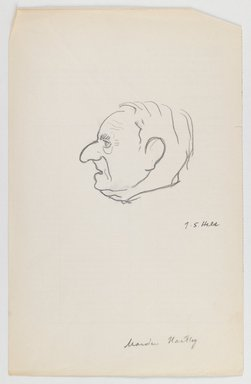 Julius S. Held (American, born Germany, 1905-2002). Marsden Hartley, n.d. Graphite on paper, sheet: 9 1/4 x 5 15/16 in. (23.5 x 15.1 cm). Brooklyn Museum, Bequest of Edith and Milton Lowenthal, 1993.43. © Estate of Julius S. Held