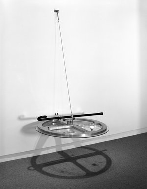 Andrew Topolski (American, born 1952). The 9th Power/1967-93, 1993. Aluminum, brass, wood cane, miscellaneous hardware, 84 x 36 in. (213.4 x 91.4 cm). Brooklyn Museum, Purchase gift of Sarah-Ann and Werner H. Kramarsky and gift of the artist, 1993.81. © artist or artist's estate