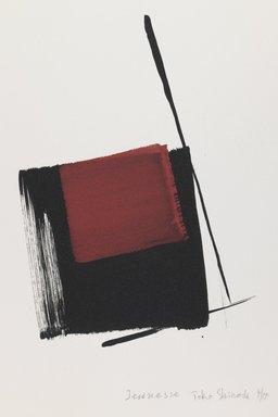 Toko Shinoda (Japanese, born 1913). Jeunesse, 1993. Woodblock print, lithograph, 14 7/8 x 11 1/8 in. Brooklyn Museum, Gift of Susan L. Beningson, 1994.10.2. © Toko Shinoda