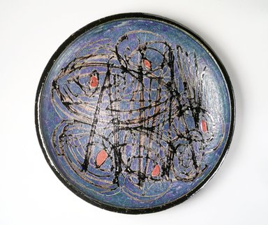 J.T. Abernathy. Charger, 1963. Glazed earthenware, diameter: 25 1/2 in. Brooklyn Museum, H. Randolph Lever Fund, 1994.109.2. Creative Commons-BY