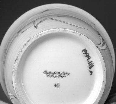 Arzberg Porzellanfabrik. Covered Jar, ca. 1930. Porcelain, 6 9/16 x 5 1/8 x 5 1/8 in. (16.7 x 13 x 13 cm). Brooklyn Museum, Gift of Jewel Stern, 1994.118a-b. Creative Commons-BY