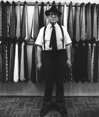 Seymour Edelstein (American, born 1922). Tie and Shirt Shop, Lower East Side, 1985. Gelatin silver photograph, image: 6 1/4 x 8 1/4 in. (15.9 x 21 cm). Brooklyn Museum, Gift of the artist, 1994.135.3. © Estate of Seymour Edelstein