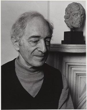 Arthur Mones (American, 1919-1998). Meyer Schapiro, 1980. Gelatin silver photograph, 13 1/2 x 10 1/2 in. Brooklyn Museum, Gift of the artist, 1994.138. © Estate of Arthur Mones