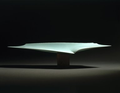 Fukami Sueharu (Japanese, born 1947). Infinity II (Shinso), 1994. Porcelain with blue-green (seihakuji) glaze, 11 x 47 5/8 x 9 1/2 in. (27.9 x 121 x 24.1 cm). Brooklyn Museum, Purchased with funds given by Alastair B. Martin, 1994.146a-b. © Fukami Sueharu