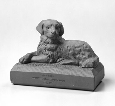 New York Architectural Terra Cotta Company (founded 1886). Figure of a Dog, ca. 1887. Unglazed earthenware, 3 1/4 x 4 1/2 x 2 1/4 in.  (8.3 x 11.4 x 5.7 cm). Brooklyn Museum, H. Randolph Lever Fund, 1994.152.1. Creative Commons-BY