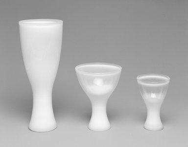 "Russel Wright (American, 1904-1976). Glass, ""Theme Formal Ware,"" Designed and Manufactured 1963. Glass, 3 3/8 x 2 3/16 x 2 3/16 in. (8.6 x 5.6 x 5.6 cm). Brooklyn Museum, Gift of Paul F. Walter, 1994.165.72. Creative Commons-BY"