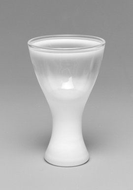 """Russel Wright (American, 1904-1976). Glass, """"Theme Formal Ware,"""" Designed and Manufactured 1963. Glass, 3 3/8 x 2 3/16 x 2 3/16 in. (8.6 x 5.6 x 5.6 cm). Brooklyn Museum, Gift of Paul F. Walter, 1994.165.72. Creative Commons-BY"""
