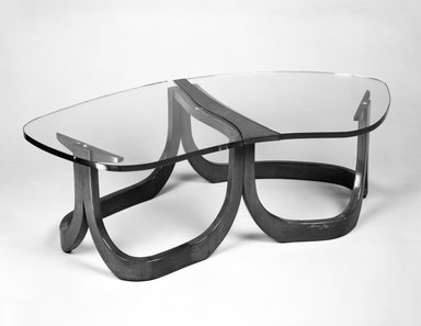Low Table; Two Sections, ca. 1955. Walnut and glass, Overall: width:53 in. (134.5 cm) diameter: 29 in. (73.6 cm)--. Brooklyn Museum, Gift of Paul F. Walter in memory of May E. Walter, 1994.21.2a-d. Creative Commons-BY