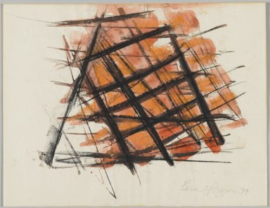 Beverly Pepper (American, born 1922). Untitled, 1977. Watercolor and charcoal with gouache, 8 1/2 x 11 in. Brooklyn Museum, Bequest of John Wesley Strayer, 1994.212.1. © Beverly Pepper, courtesy Marlborough Gallery, New York