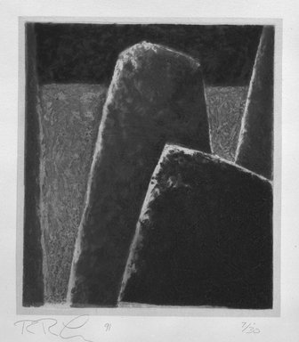 Rex Lau (American, born 1947). Cape Fear, 1991. Carborundum relief, Sheet: 25 13/16 x 19 5/16 in. (65.5 x 49 cm). Brooklyn Museum, Gift of Ting Shao Kuang, 1994.26. © George Peck
