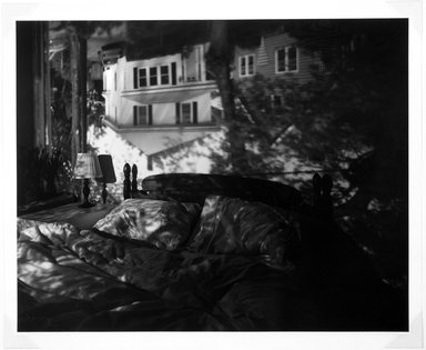 Abelardo Morell. Camera Obscura Image in our Bedroom, 1991. Gelatin silver photograph, sheet: 23 7/8 x 19 3/4 in. (60.7 x 50.2 cm). Brooklyn Museum, Purchased with funds given by the Horace W. Goldsmith Foundation, Harry Kahn, and Mrs. Carl L. Selden, 1994.30.3. © Abelardo Morell