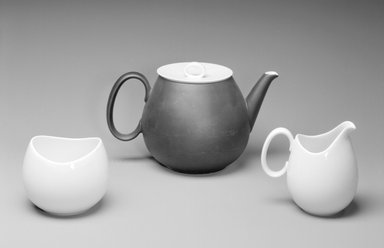 Raymond Loewy (American, born France, 1893-1986). Sugar Bowl, Studio Line, ca. 1954. Porcelain, 3 1/8 x 3 7/8 x 3 7/8 in. (7.9 x 9.8 x 9.8 cm). Brooklyn Museum, Gift of Della Petrick Rothermel in memory of John Petrick Rothermel, 1994.61.14. Creative Commons-BY