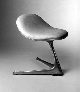 Vladimir Kagan Designs. Stool, ca.1960. Metal, vinyl, 23 x 19 x 19 in. (58.4 x 48.2 x 48.2 cm). Brooklyn Museum, Gift of Della Petrick Rothermel in memory of John Petrick Rothermel, 1994.61.26. Creative Commons-BY