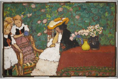 József Rippl-Rónai (Hungarian, 1861-1927). Woman with Three Girls, ca. 1909. Oil on board, 24 1/8 x 36 3/4 in. (61.3 x 93.3 cm). Brooklyn Museum, Designated Purchase Fund, 1994.68