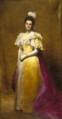 Charles-Émile-Auguste Carolus-Duran (French, 1838-1917). Portrait of Emily Warren Roebling, 1896. Oil on canvas, 89 x 47 1/2 in. (226.1 x 120.7 cm). Brooklyn Museum, Gift of Paul Roebling, 1994.69.1