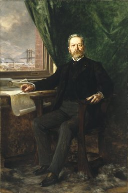 Théobald Chartran (French, 1849-1907). Portrait of Washington A. Roebling, 1899. Oil on canvas, Unglazed, framed weight is 166 lbs. : 79 1/8 x 53 1/8 in., 166 lb. (201 x 134.9 cm, 75.3kg). Brooklyn Museum, Gift of Paul Roebling, 1994.69.2