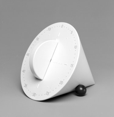 Morrison Cousins (American, 1934-2001). On the Dot Kitchen Timer, Designed 1993; Manufactured 1995. Plastic, metal, 3 x 3 1/2 x 4 in.  (7.6 x 8.9 x 10.2 cm). Brooklyn Museum, Gift of Tupperware, 1995.102.2. Creative Commons-BY
