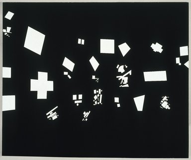 David Diao (American, born in China, 1943). Black and White, 1986. Acrylic on canvas, 90 x 108 in. (228.6 x 274.3cm). Brooklyn Museum, Gift of Barbara and Eugene Schwartz, 1995.114. © David Diao