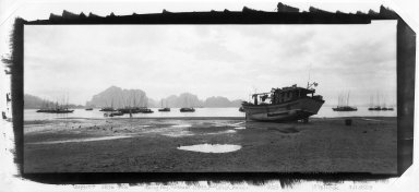 Lois Conner (American, born 1951). Halong Bay, Vietnam, 1993. Platinum photograph, image: 7 x 17 in. (17.8 x 43.2 cm). Brooklyn Museum, Purchased with funds given by the Horace W. Goldsmith Foundation, Ardian Gill and the Coler Foundation, 1995.123. © Lois Conner