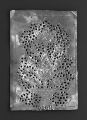 The Ahmedabad Workshops for Lockwood de Forest. Panel with design of Flowering Plant in Vase, No. 30, ca. 1881-1900. Brass, height: 5 1/2 in. Brooklyn Museum, Alfred T. and Caroline S. Zoebisch Fund, 1995.13.11. Creative Commons-BY