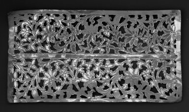 The Ahmedabad Workshops for Lockwood de Forest. Panel with design of Floral Scroll Borders, No. 341, ca. 1881-1900. Brass, height: 12 3/4 in. Brooklyn Museum, Alfred T. and Caroline S. Zoebisch Fund, 1995.13.8. Creative Commons-BY