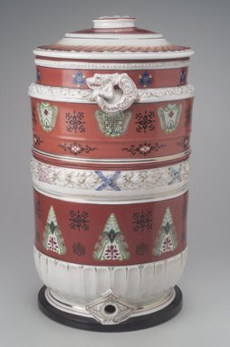 Union Porcelain Works (1863-ca.1922). Water Filter, Patented November 28, 1882. Porcelain, Overall: 20 x 12 1/2 x 11 1/2 in. (50.8 x 31.8 x 29.2 cm). Brooklyn Museum, Bequest of Marie Bernice Bitzer, by exchange, 1995.143.1a-c. Creative Commons-BY