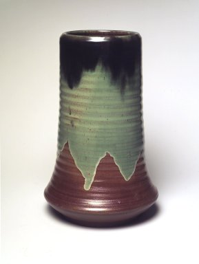Jacob Meyers. Vase, ca. 1899. Earthenware, 11 x 7 x 7 in. (27.9 x 17.8 x 17.8 cm). Brooklyn Museum, Gift of David M. Kahn, 1995.148. Creative Commons-BY