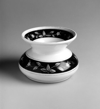 Union Porcelain Works (1863-ca.1922). Spittoon, ca, 1885. Porcelain, 4 1/2 x 6 1/2 x 6 1/2 in.  (11.4 x 16.5 x 16.5 cm). Brooklyn Museum, Gift of Emma and Jay Lewis, 1995.150.1. Creative Commons-BY