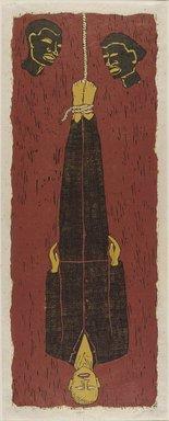 Alison Saar (American, born 1956). Ulysses, 1994. Woodcut on paper, 50 9/16 x 19 15/16 in. (128.4 x 50.6cm). Brooklyn Museum, Robert A. Levinson Fund, 1995.3. © Alison Saar