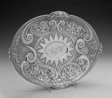 Gorham Manufacturing Company (founded 1865). Bread Dish, ca. 1887. Silver, 3 x 11 3/4 x 9 3/4 in.  (7.6 x 29.8 x 24.8 cm). Brooklyn Museum, Bequest of Marie Bernice Bitzer, by exchange, 1995.57. Creative Commons-BY