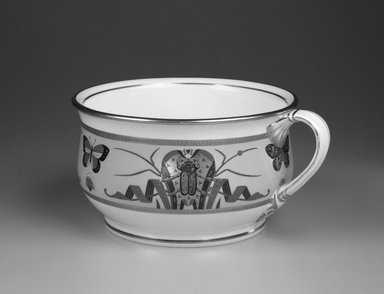 Minton and Company. Chamber Pot, ca. 1870. Glazed porcelain, 5 x 10 5/8 x 8 15/16 in.  (12.7 x 27.0 x 22.7 cm). Brooklyn Museum, Bequest of Marie Bernice Bitzer, by exchange, 1995.58.2. Creative Commons-BY