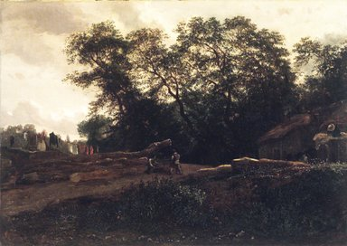 Constant Troyon (French, 1810-1865). The Edge of the Forest, late 1830s. Oil on canvas, 12 13/16 x 18 3/16 x 1/2 in. (32.5 x 46.1 x 1.3 cm). Brooklyn Museum, Gift of Mr. and Mrs. Horace H. Wilson, 1995.64