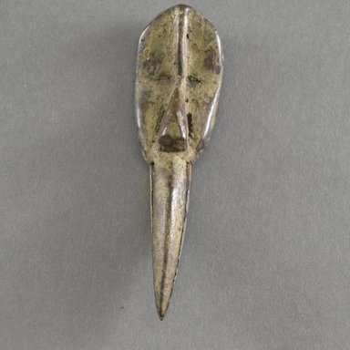 Dan. Personal Miniature Mask, 20th century. Wood, 5 3/8 x 1 1/2 in.  (13.7 x 3.8 cm). Brooklyn Museum, Gift of Blake Robinson, 1995.7.7. Creative Commons-BY