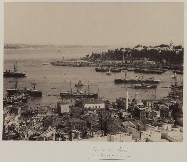 Pascal Sébah (Turkish, 1823-1886). Panoramic view of the Topkapi Saray Palace (section 1), ca. 1860-1880. Gelatin silver photograph, 12 x 10in. (30.5 x 25.4cm). Brooklyn Museum, Purchased with funds given by Dr. and Mrs. Shahrokh Ahkami and an anonymous donor, 1995.86.1