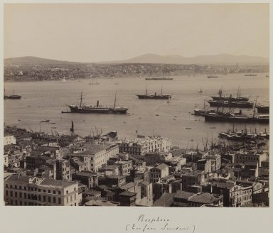 Pascal Sébah (Turkish, 1823-1886). Panoramic View of the Topkapi Saray Palace (section 2), ca. 1860-1880. Gelatin silver photograph, sheet: ht.: 12 in. Brooklyn Museum, Purchased with funds given by Dr. and Mrs. Shahrokh Ahkami and an anonymous donor, 1995.86.2