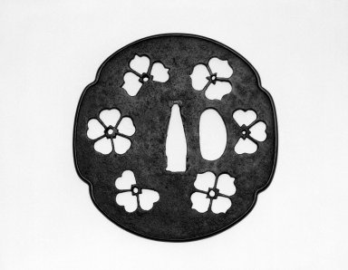 Katchushi School Tsuba (Sword Guard), 16th-17th century. Iron, copper alloy, length: 3 3/8 in. Brooklyn Museum, Gift of the J. Aron Charitable Foundation, Inc. in memory of Jack R. Aron, 1995.9.12. Creative Commons-BY