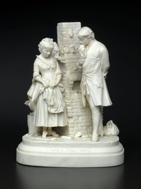 Daniel Chester French (American, 1850-1931). Joe's Farewell, Designed 1872-1873. Unglazed porcelain, 9 1/2 x 7 1/2 x 5 9/16 in.  (24.1 x 19.1 x 14.1 cm). Brooklyn Museum, Gift of Benno Bordiga, by exchange, 1995.98.1. Creative Commons-BY