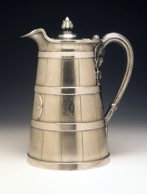 Tiffany & Company (American, founded 1853). Covered Pitcher, ca. 1863. Silver, 8 1/2 x 8 x 5 5/8 in. Brooklyn Museum, H. Randolph Lever Fund, 1995.98.2. Creative Commons-BY