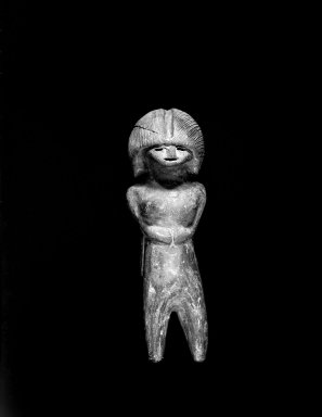 Valdivia. Female Figurine, ca. 2000 B.C.E. Burnished ceramic, 3 3/8 x 1 1/16 x 5/8 in. Brooklyn Museum, Bequest of Mrs. Carl L. Selden, 1996.116.1. Creative Commons-BY