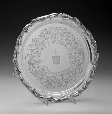 John C. Moore. Waiter or Tray, ca. 1848-1852. Silver, 1 1/8 x 12 x 12in. (2.9 x 30.5 x 30.5cm). Brooklyn Museum, H. Randolph Lever Fund, 1996.132. Creative Commons-BY