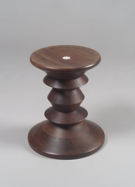 Ray Eames (American, born Bernice Alexander Kaiser, 1912-1988). Turned Stool, ca. 1950. Walnut, 15 x 13 x 13in. (38.1 x 33 x 33cm). Brooklyn Museum, Bequest of Mrs. Carl L. Selden, 1996.142.29. Creative Commons-BY
