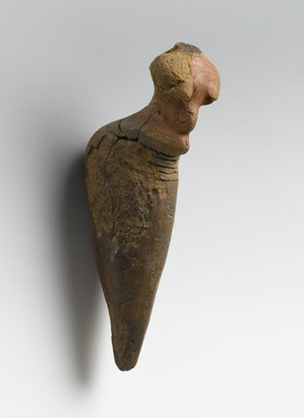 Nubian. Female Figurine, ca. 3500-3100 B.C.E. Terracotta, pigment, 5 1/2 x 1 7/16 x 1 9/16 in. (14 x 3.7 x 4 cm). Brooklyn Museum, Bequest of Mrs. Carl L. Selden in honor of Bernard V. Bothmer, 1996.146.1. Creative Commons-BY