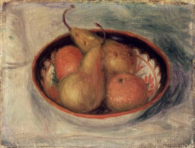 William Glackens (American, 1870-1938). Pears and Oranges in a  Bowl, ca. 1915. Oil on canvas, 10 x 13 in. (25.4 x 33 cm). Brooklyn Museum, Bequest of Mrs. Carl L. Selden, 1996.150.2