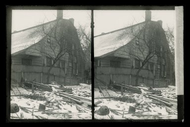Daniel Berry Austin (American, born 1863, active 1899-1909). Rem Lefferts, Fulton Street near Bedford Avenue, Brooklyn, ca. 1899-1909. Gelatin silver glass dry plate negative Brooklyn Museum, Brooklyn Museum/Brooklyn Public Library, Brooklyn Collection, 1996.164.1-144