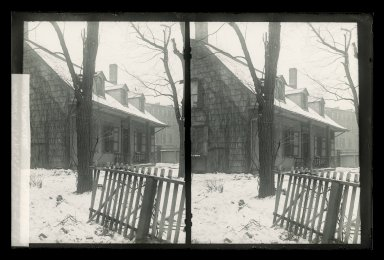 Daniel Berry Austin (American, born 1863, active 1899-1909). Rem Lefferts, Snow, Fulton Street near Bedford Avenue, Brooklyn, ca. 1899-1909. Gelatin silver glass dry plate negative Brooklyn Museum, Brooklyn Museum/Brooklyn Public Library, Brooklyn Collection, 1996.164.1-145