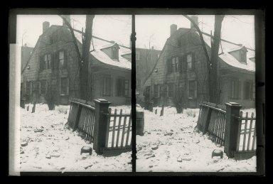 Daniel Berry Austin (American, born 1863, active 1899-1909). Rem Lefferts, Snow, Fulton Street near Bedford Avenue, Brooklyn, ca. 1899-1909. Gelatin silver glass dry plate negative Brooklyn Museum, Brooklyn Museum/Brooklyn Public Library, Brooklyn Collection, 1996.164.1-146
