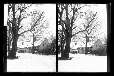 Daniel Berry Austin (American, born 1863, active 1899-1909). Farm, Snow, 48th Street at New Utrecht Road, Brooklyn, ca. 1899-1909. Gelatin silver glass dry plate negative Brooklyn Museum, Brooklyn Museum/Brooklyn Public Library, Brooklyn Collection, 1996.164.1-153