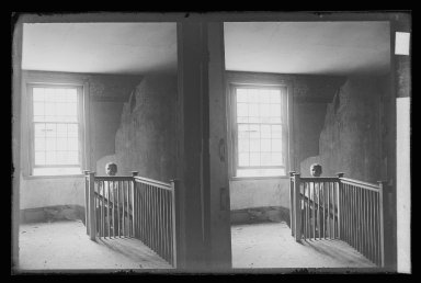 Daniel Berry Austin (American, born 1863, active 1899-1909). J. Birdsall House, Stairway and Children, Flatbush Avenue opposite Fenimore Street, Flatbush, Brooklyn (Vacant), ca. 1899-1909. Gelatin silver glass dry plate negative Brooklyn Museum, Brooklyn Museum/Brooklyn Public Library, Brooklyn Collection, 1996.164.1-59