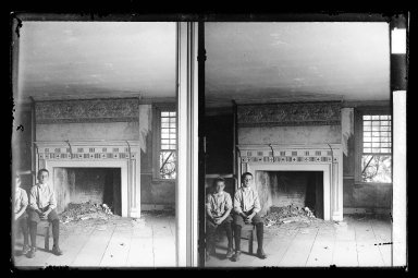 Daniel Berry Austin (American, born 1863, active 1899-1909). J. Birdsall House, East Front Bedroom, Flatbush opposite Fenimore Street, Flatbush, Brooklyn, ca. 1899-1909. Gelatin silver glass dry plate negative Brooklyn Museum, Brooklyn Museum/Brooklyn Public Library, Brooklyn Collection, 1996.164.1-62